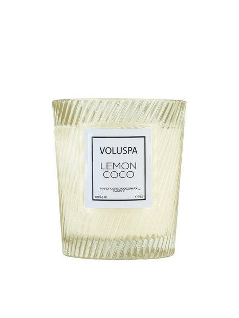 Billede af Voluspa Boxed Textured Glass Candle Duftlys Lemon Coco