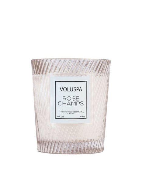 Billede af Voluspa Boxed Textured Glass Candle Duftlys Rose Champs