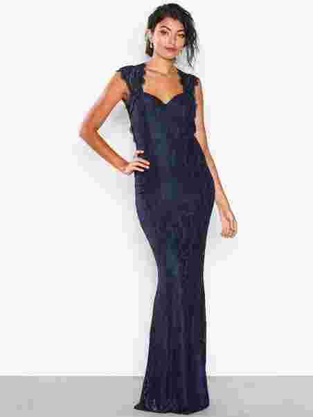 Mermaid Lace Gown - Nly Eve - Navy - Juhlamekot - Vaatteet - Nainen ... 41843723dc
