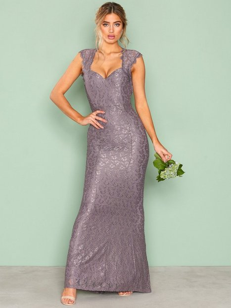 NLY Eve Mermaid Lace Gown Maksimekot Dark Lavendel thumbnail