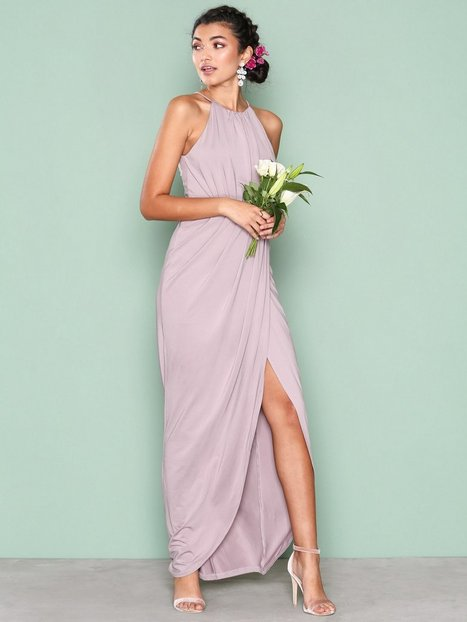 NLY Eve Drapy Slit Gown Maksimekot Beige thumbnail