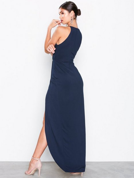 Drapy Slit Gown