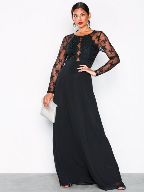 Billede af NLY Eve Whenever Lace gown Maxikjoler Sort