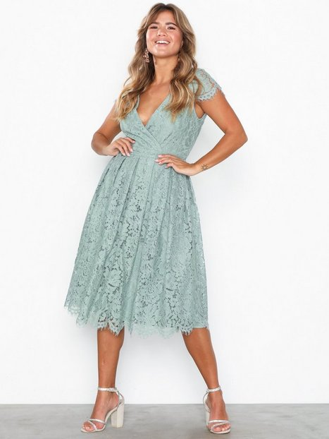 Billede af NLY Eve Lace Wrap Midi Dress Loose fit