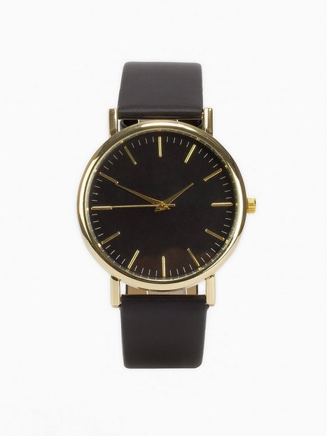 NLY Accessories Plain Watch Klockor Svart thumbnail