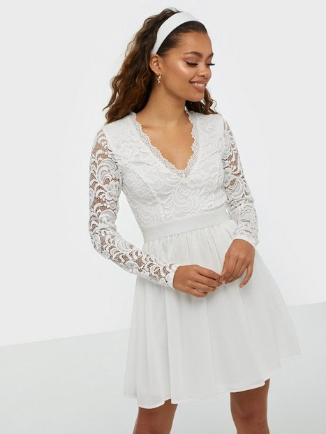 Scalloped Lace Prom Dress - Nly Trend - White - Party Dresses ...