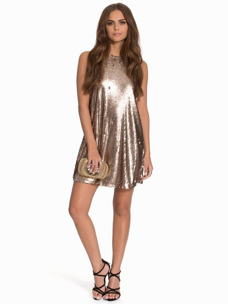 Champagne Dress - Nly Trend - Gold