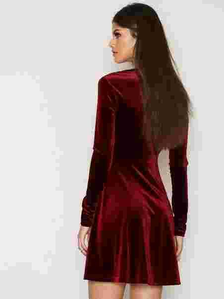 1a4e17aef732 Velvet Skater Dress - Nly Trend - Red - Party Dresses - Clothing ...