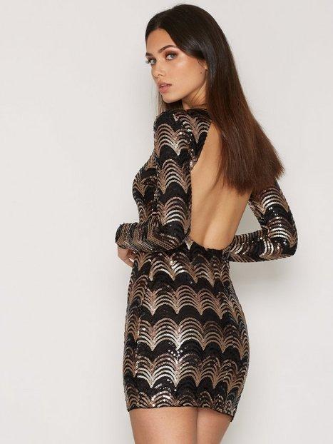Billede af NLY Trend Artsy Sequin Dress Festkjoler Mønstret