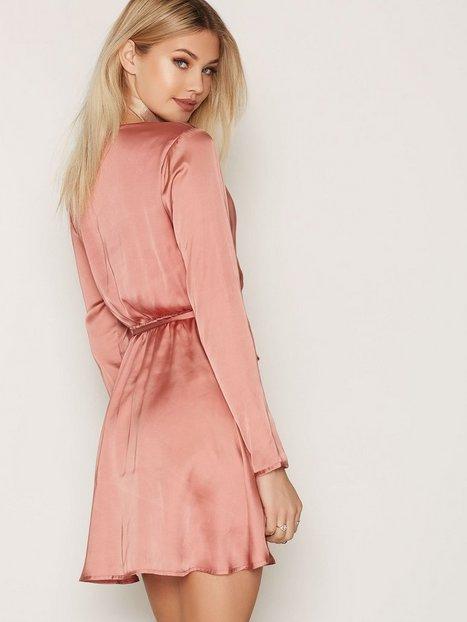 Satin Wrapped Dress