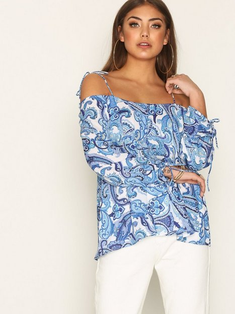 Print Off Shoulder Blouse