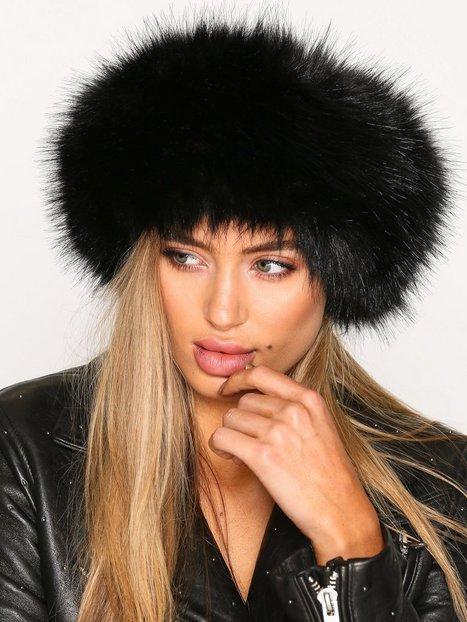 Billede af NLY Accessories Fur Headband Huer Sort