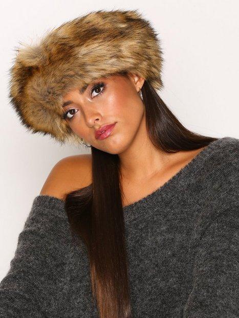 Billede af NLY Accessories Fur Headband Huer Brun