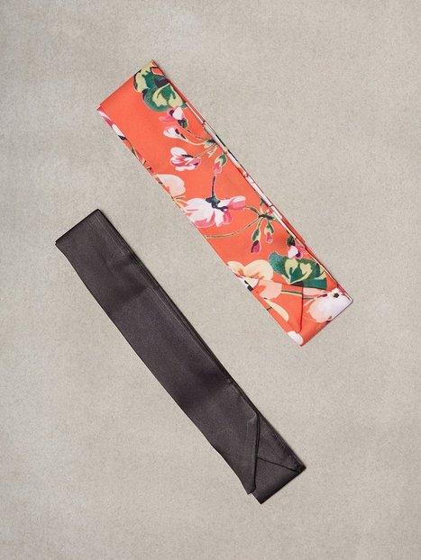 Billede af NLY Accessories 2-Pack Scarfs Hårtilbehør Rød mønstret