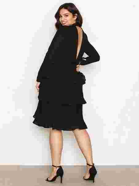 Party Frill Dress - Nly Trend - Musta - Juhlamekot - Vaatteet ... 543831389a
