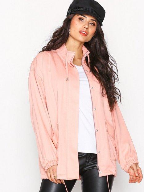NLY Trend Soft Parka Jacket Parkatakit Vaaleanpunainen thumbnail