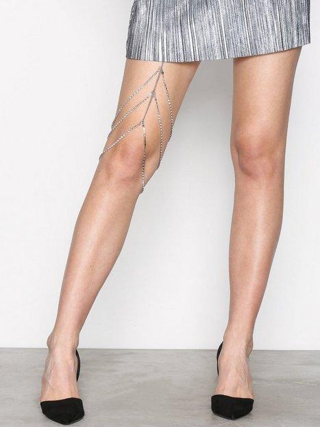 Billede af NLY Accessories Leg Chain Diamond Øvrigt smykke Sølv
