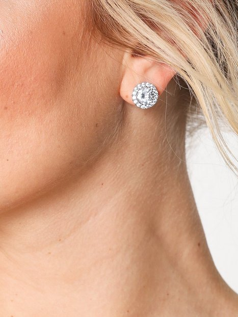 Pave Stud Crystal Earring