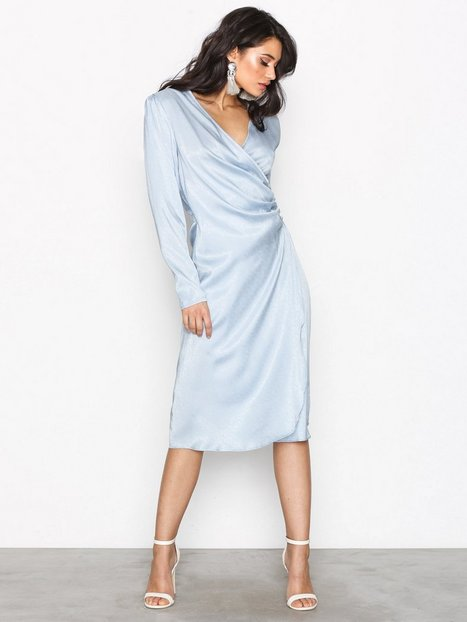 Drapy Glamour Dress - Nly Trend - Light Blue - Party Dresses ...