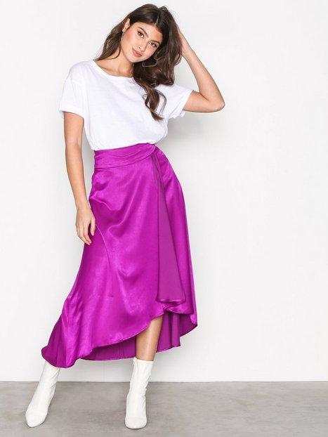 NLY Trend Flowy Wrap Skirt Midihameet Violetti thumbnail