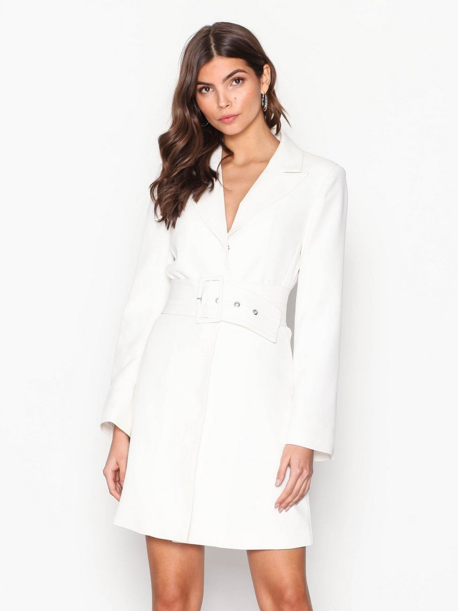 Belted Suit Dress Nly Trend White Party Dresses Clothing