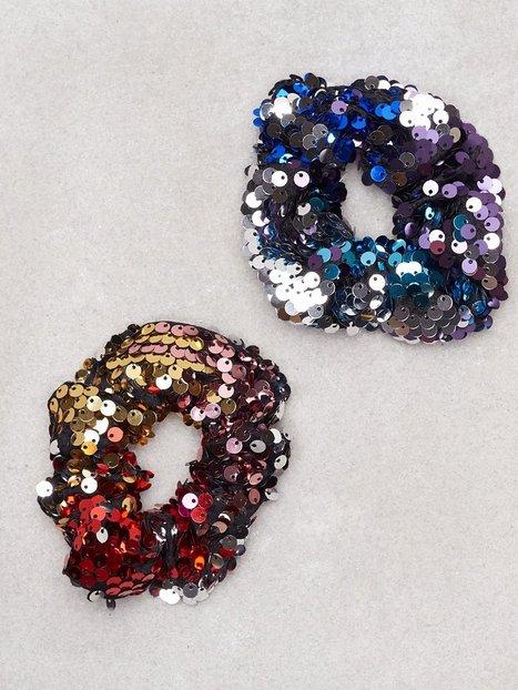 NLY Accessories Sequin Scrunchie 2-pack Hiusasusteet Monivärinen thumbnail