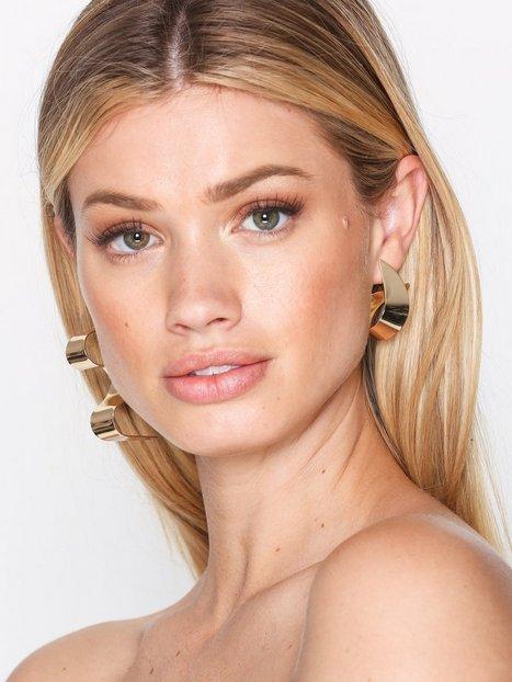 Billede af NLY Accessories Asymmetric Swirl Stud Ørering Guld