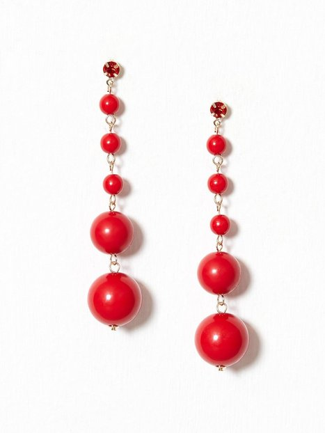 Billede af NLY Accessories Bead Drops Ørering Rød