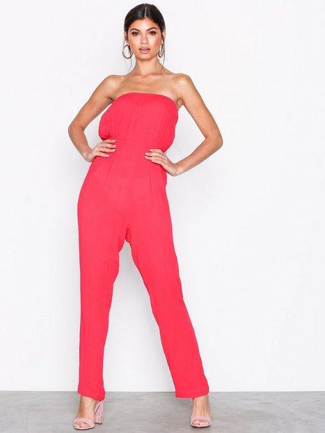 Billede af NLY Trend Bandeau Jumpsuit Jumpsuits Rød