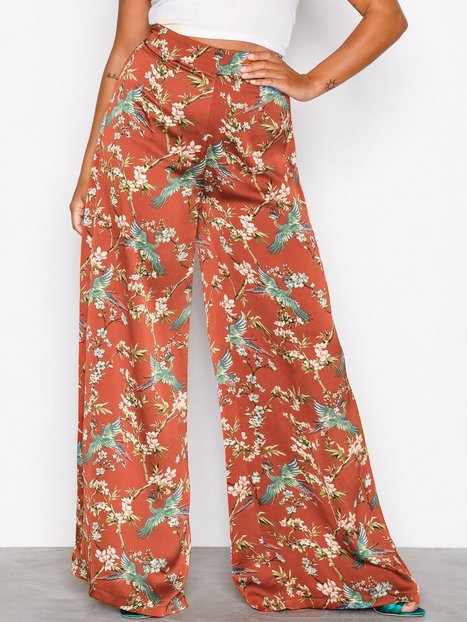 NLY Trend Wide Palazzo Pants Housut Oranssi thumbnail