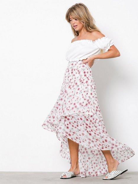 Billede af NLY Trend Romantic Flounce Skirt Maxinederdele Mønstret