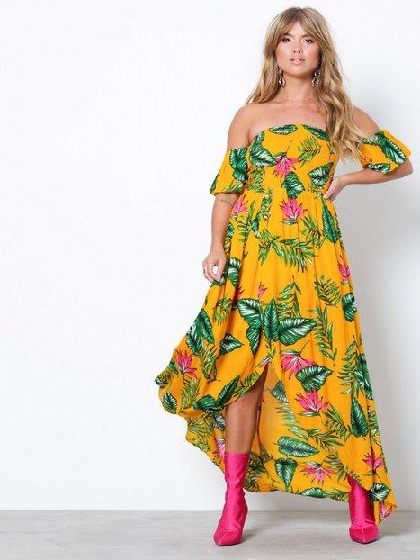 Billede af NLY Trend Long Smock Dress Maxikjoler Orange/Mønstret