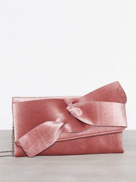 NLY Accessories Velvet Clutch Kuvertväskor Rosa