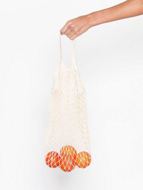 Billede af NLY Beach Fishnet Bag Strandtøj Offwhite