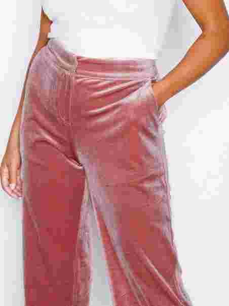 Shoppa Straight Velvet Pants - Online Hos Nelly.com a9643391732db