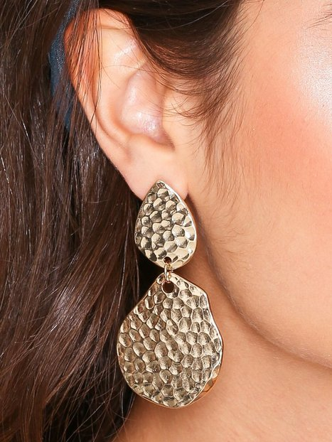 Hammered Metal Drop Earrings
