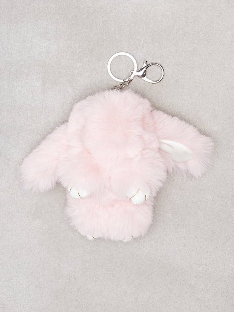 Billede af NLY Accessories Fluffy Bunny Keyring Nøgleringe Lys Rosa