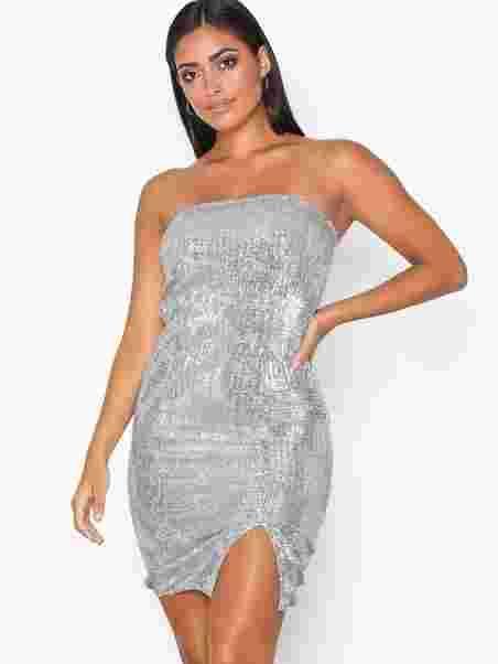 732c5e3e44 Shine Sequin Tube Dress - Nly One - Silver - Party Dresses ...