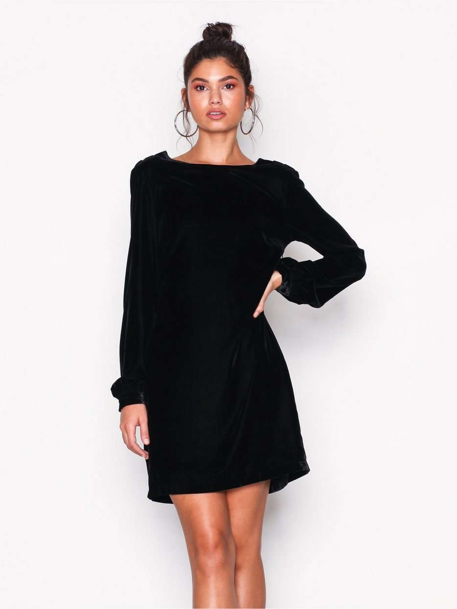 Low cut dress black rare photo