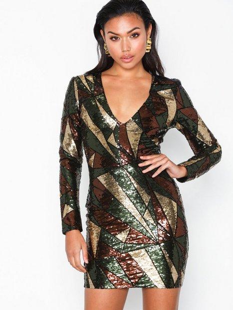 Billede af NLY Trend V-Neck Sequins Dress Pailletkjoler