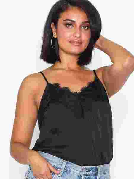 f1547e73fbd602 Lace Cami Top - Nly Trend - Black - Tops - Clothing - Women - Nelly.com