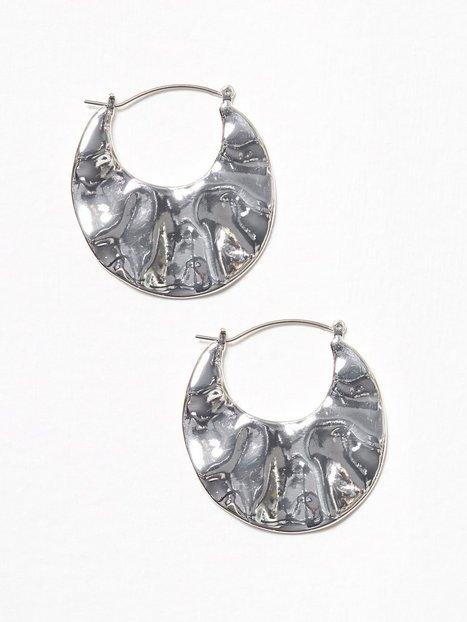 Organic Silver Drop Earring