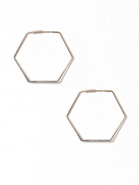 Billede af NLY Accessories Hexagon Hoops Ørering