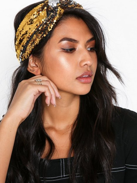Billede af NLY Accessories Sequin Headband Hårtilbehør Guld/Sølv