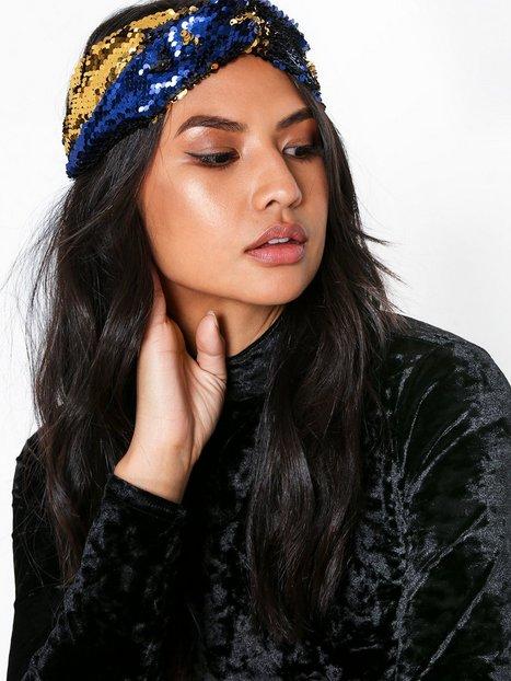 Billede af NLY Accessories Sequin Headband Hårtilbehør Blå/Guld