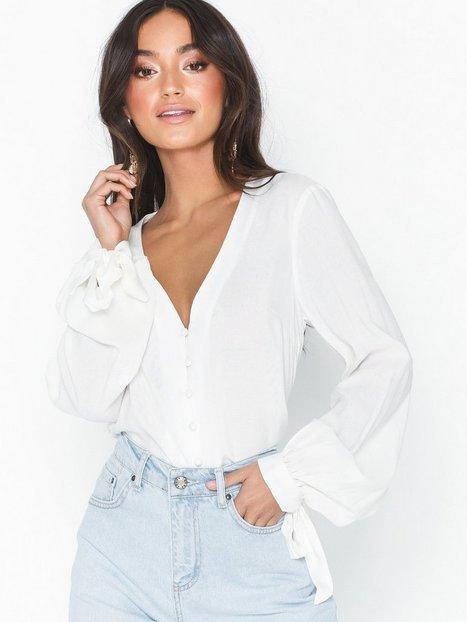 Billede af NLY Trend Front Button Blouse Skjorter Hvid