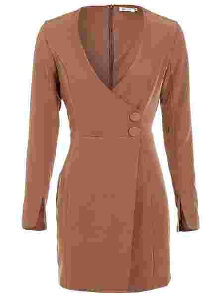 28151082fd76 Sharp Deep Dress - Nly One - Brun - Festkjoler - Tøj - Kvinde ...