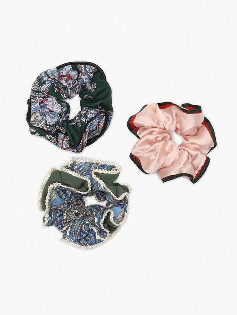 Billede af NLY Accessories 3 pack Paisley Scrunchies Håraccessories