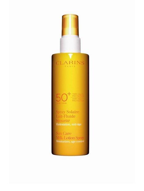 Billede af Clarins Sun Care Milk-Lotion Spray Spf 50+ 150 ml Solfaktor Hvid