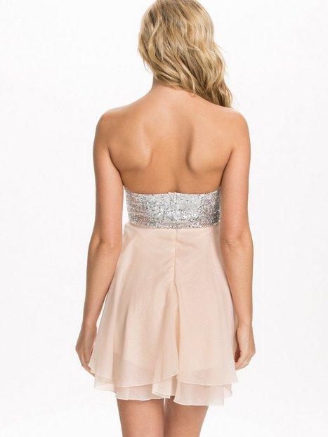Jewelled Bustier Chiffon Dress - Te Amo - Nude - Party Dresses - Clothing - Women - Nelly.com Uk